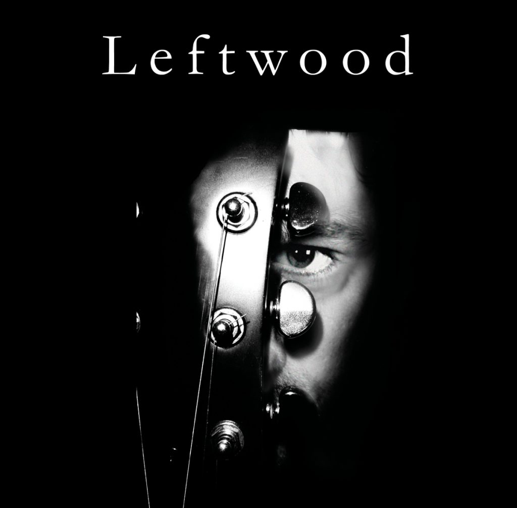 Leftwood face behind the guitar
